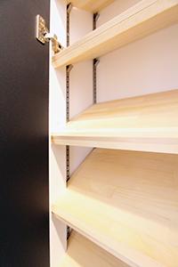 5cm刻みの棚で使いやすい!棚式4段スチールラック