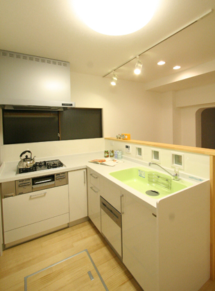 L型キッチンリフォーム YAMAHA ヤマハ