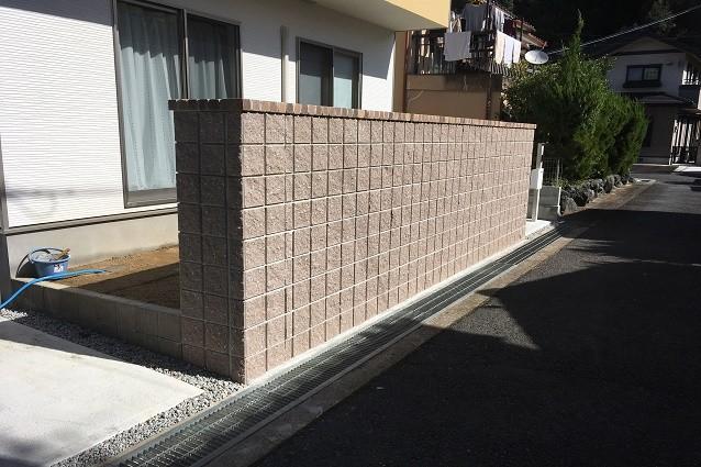 奈良県橿原市H様邸目隠しブロック取付工事