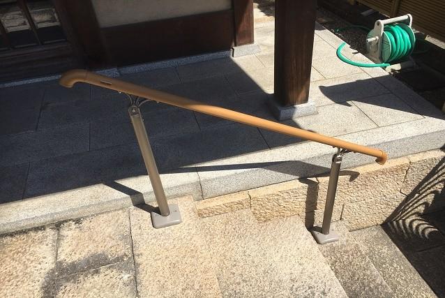 奈良県橿原市K様邸玄関アプローチ手すり取付工事