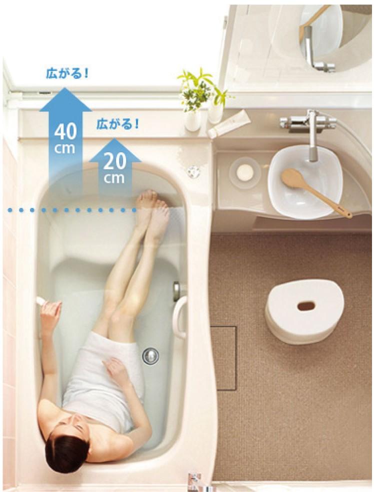お風呂 狭い リフォーム 広げる 増築