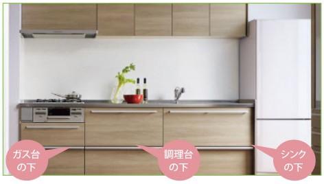 キッチン リフォーム 収納 システムキッチン