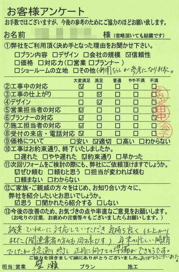 奈良県葛城市U様邸 キッチン改装工事