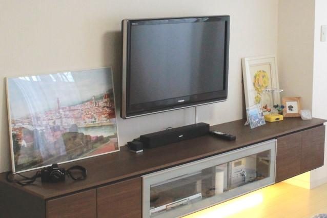 埼玉県ふじみ野市H様邸リビングにテレビボード新設