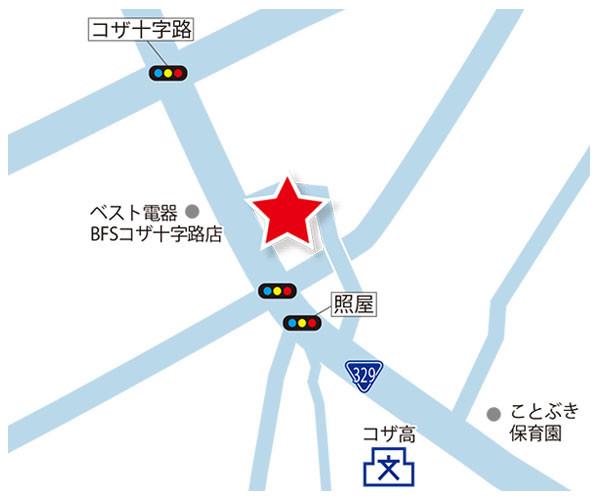 コザ中央地図